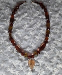 Vintage Jewelry - Vintage multiple shades of amber necklace